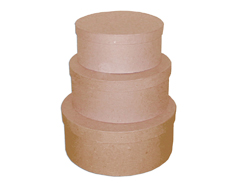 PM1053B Set de 3 cajas papel mache redondas 18 21 y 24cm Innspiro