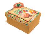 PM1053C Set de 3 cajas papel mache cuadradas 15 19 y 22cm Innspiro - Ítem2