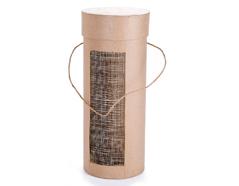 PM3676B Estuche papel mache para botella vino redondo Innspiro