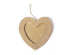 PM5001A Colgante papel mache portaretratos corazon Innspiro
