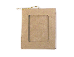 PM5001F Colgante papel mache portaretratos rectangular Innspiro