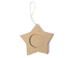 PM5001G Colgante papel mache portaretratos estrella Innspiro