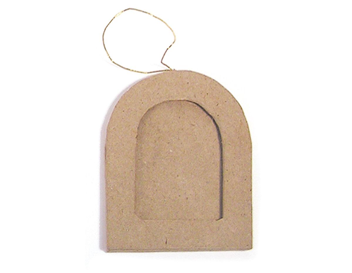 PM5001W Colgante papel mache portaretratos libro Innspiro