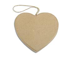 PM6283A Colgante papel mache corazon plano Innspiro