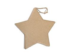 PM6283G Colgante papel mache estrella plano Innspiro
