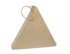PM6283K Colgante papel mache triangulo plano Innspiro