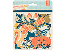 PRS-4328 PERSIMMON- PRINTED CHIPBOARD SHAPES Basic Grey