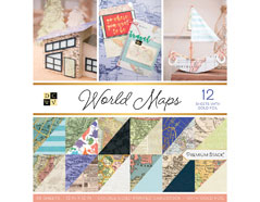 PS-002-00023 Set 36 papeles doble cara Stack World Maps DCWV
