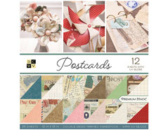 PS-002-00024 Set 36 papeles doble cara Stack Postcards DCWV