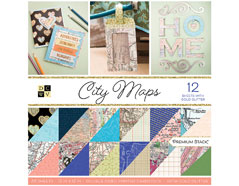PS-002-00025 Set 36 papeles doble cara Stack City Maps DCWV