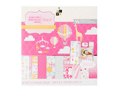 PS-005-00294 Set 48 papeles doble cara Stack Baby Girl DCWV