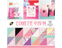 PS-005-00635 Set 36 papeles doble cara Stack Confetti Party DCWV