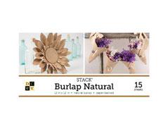 PS-016-00016 Set 15 laminas de tela de arpillera Stack Natural Burlap DCWV