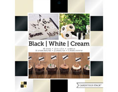 PS-016-00024 Set 48 cartulinas Black Cardstock Stack White and Cream DCWV