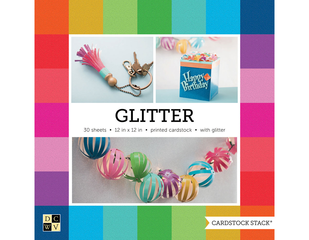 PS-016-00027 Set 30 cartulinas Cardstock Stack Glitter DCWV