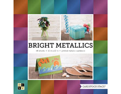 PS-016-00028 Set 48 cartulinas Cardstock Stack Bright Metallics DCWV