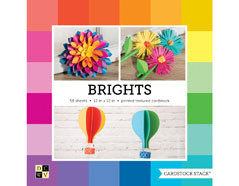 PS-016-00032 Set 58 cartulinas Textured Cardstock Stack Brights DCWV