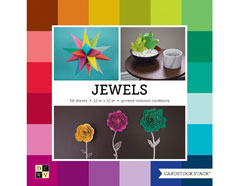 PS-016-00033 Set 58 cartulinas Textured Cardstock Stack Jewel DCWV