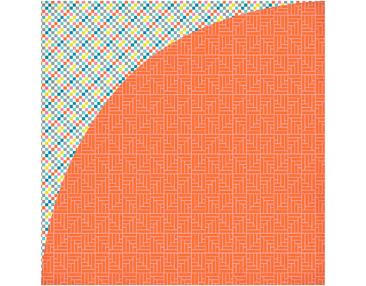PSM-4819 Papel doble cara PRISM Weave Basic Grey