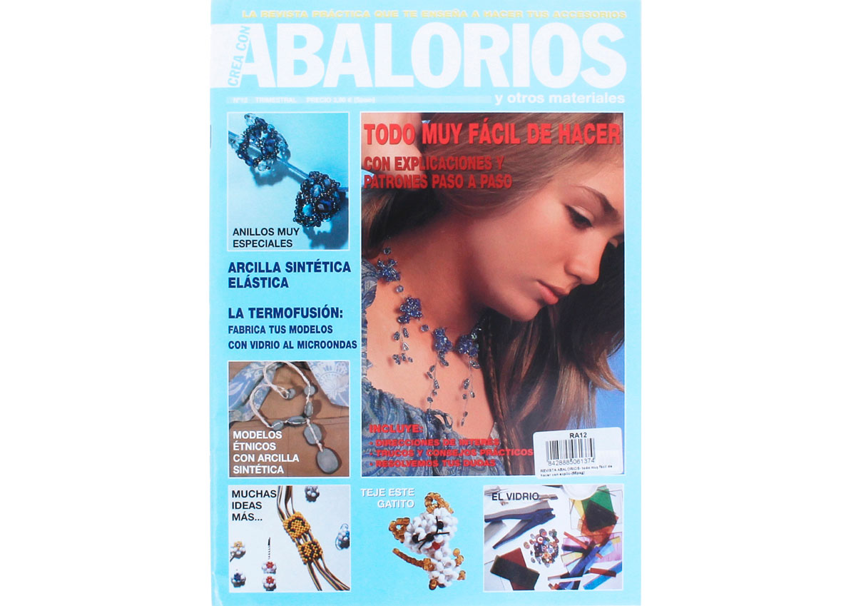 RA12 Revista ABALORIOS Todo muy facil de hacer con explicaciones 66 pag Crea con abalorios