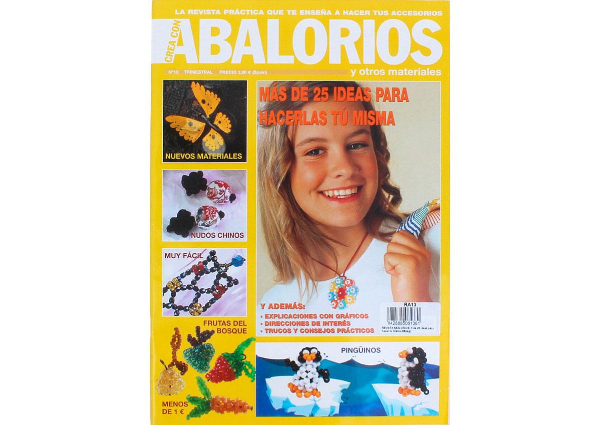 RA13 Revista ABALORIOS Mas de 25 ideas para hacer tu misma 66 pag Crea con abalorios
