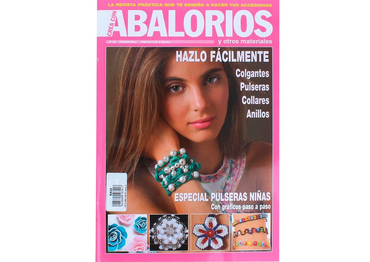 RA29 Revista ABALORIOS Hazlo tu misma Muy facil colgantes pulseras ninas collares anillos 66 pag Crea con abalorios