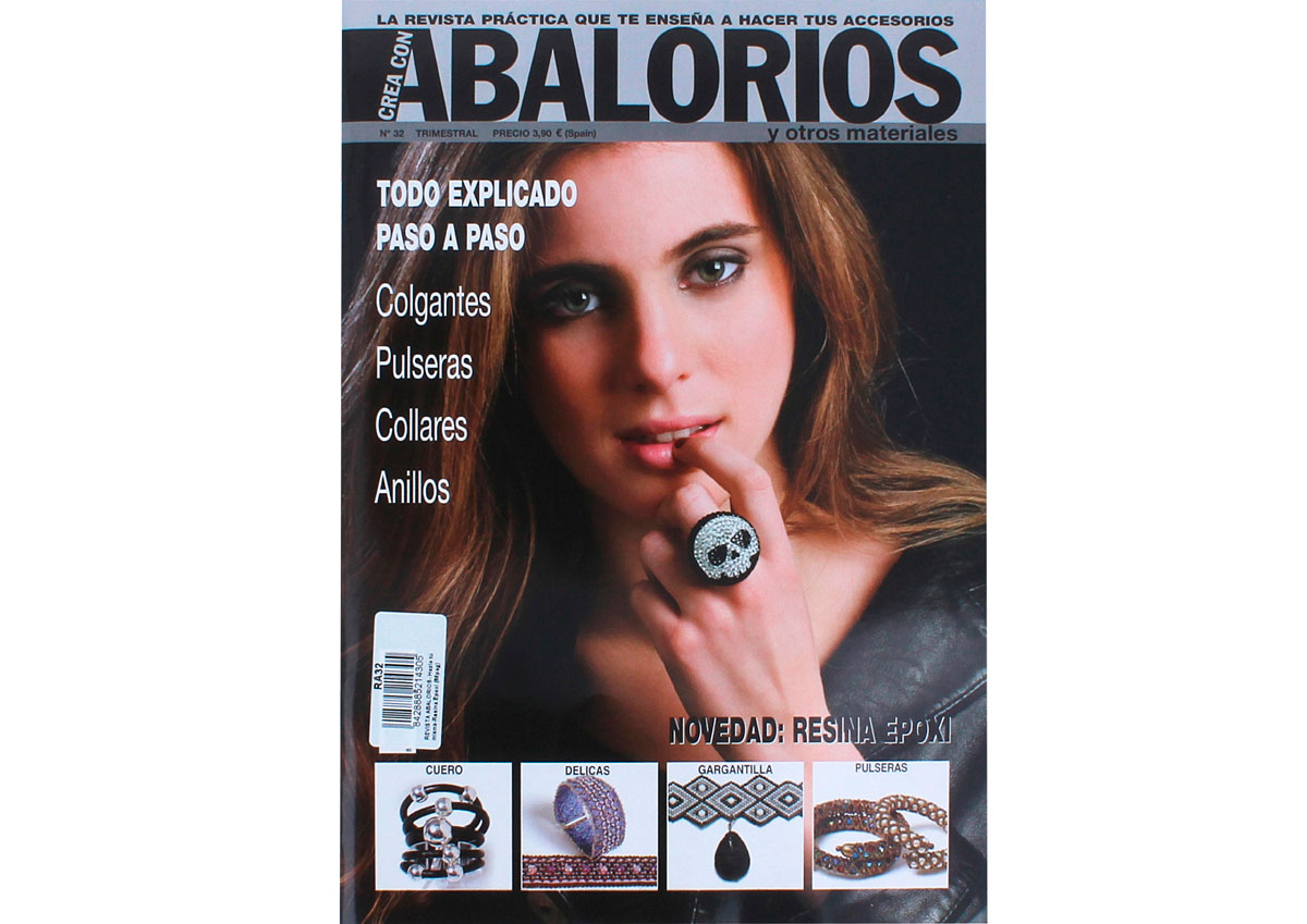 RA32 Revista ABALORIOS Hazlo tu misma Resina epoxi 66 pag Crea con abalorios