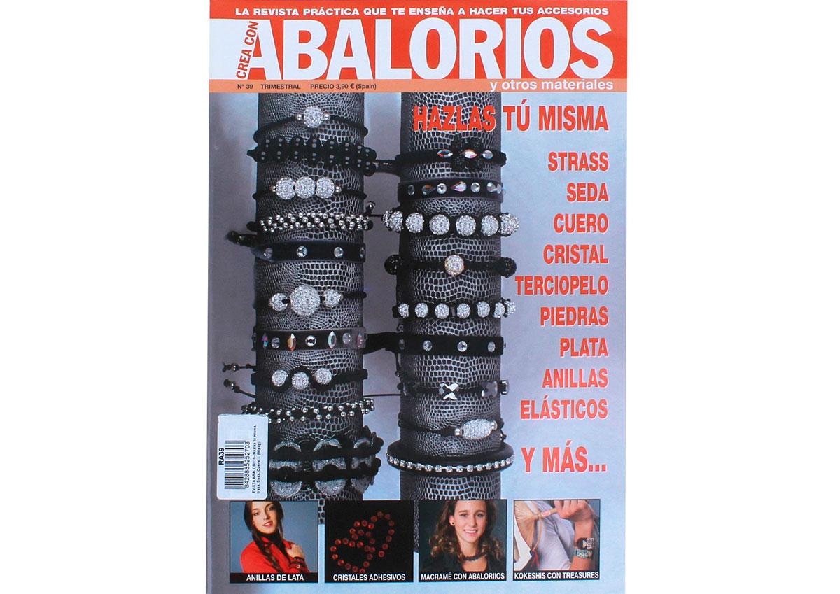 RA39 Revista CUENTAS Y ABALORIOS Haz las tu misma strass seda cuero y mas n39 Crea con abalorios