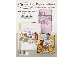 RC005 Revista SCRAPBOOKING Y CARTONAJE Papel Creativo n5 Carrotcake Manos Maravillosas
