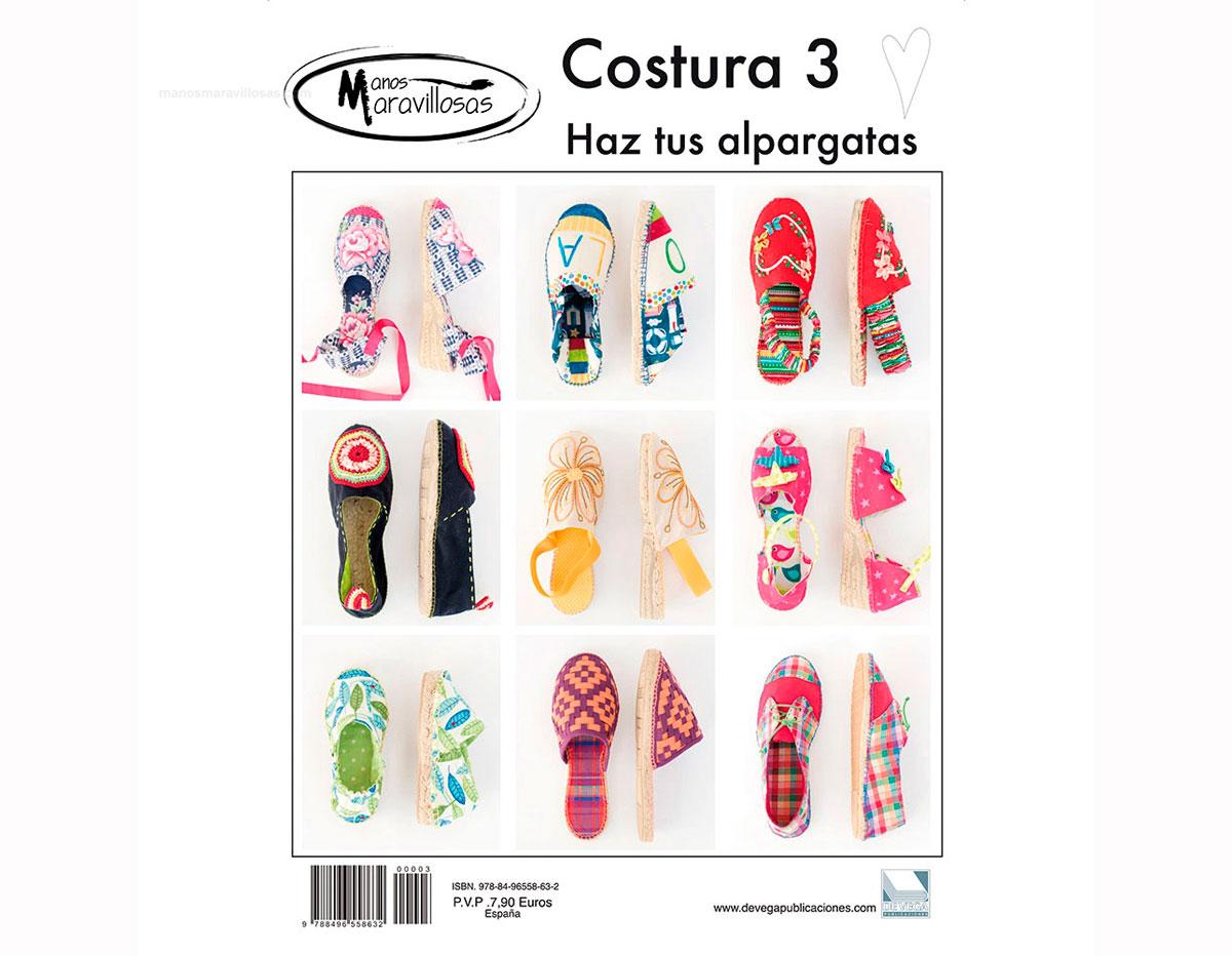 RCOS03 Revista COSTURA 3 Haz tus alpargatas Manos Maravillosas