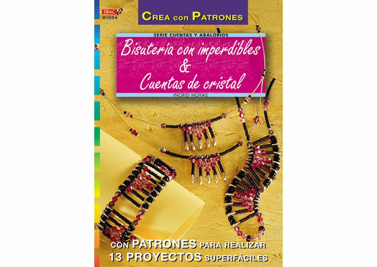 RD1006 Revista CUENTAS Y ABALORIOS Bisuteria con imperdibles y cuentas 32 pag El drac