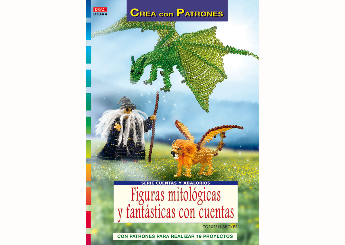 RD1044 Revista CUENTAS Y ABALORIOS Pulseras de la amistad trenzadas con cuentas El drac