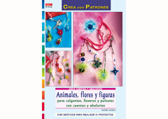 RD1046 Revista CUENTAS Y ABALORIOS Animales flores y figuras para colgantes llaveros y pulseras con cuentas y abalorios El drac