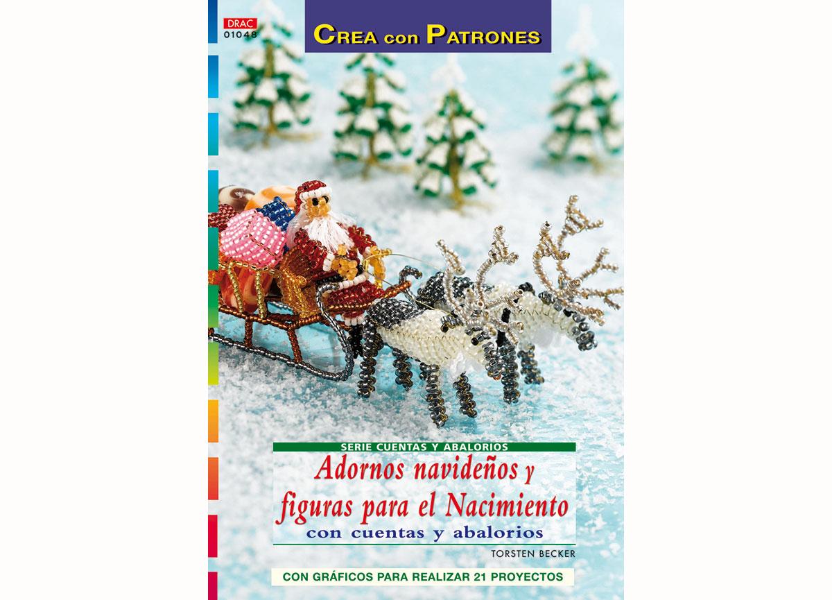 RD1048 Revista CUENTAS Y ABALORIOS NAVIDAD Adornos navidenos y figuras para el nacimiento con cuentas y abalorios El drac