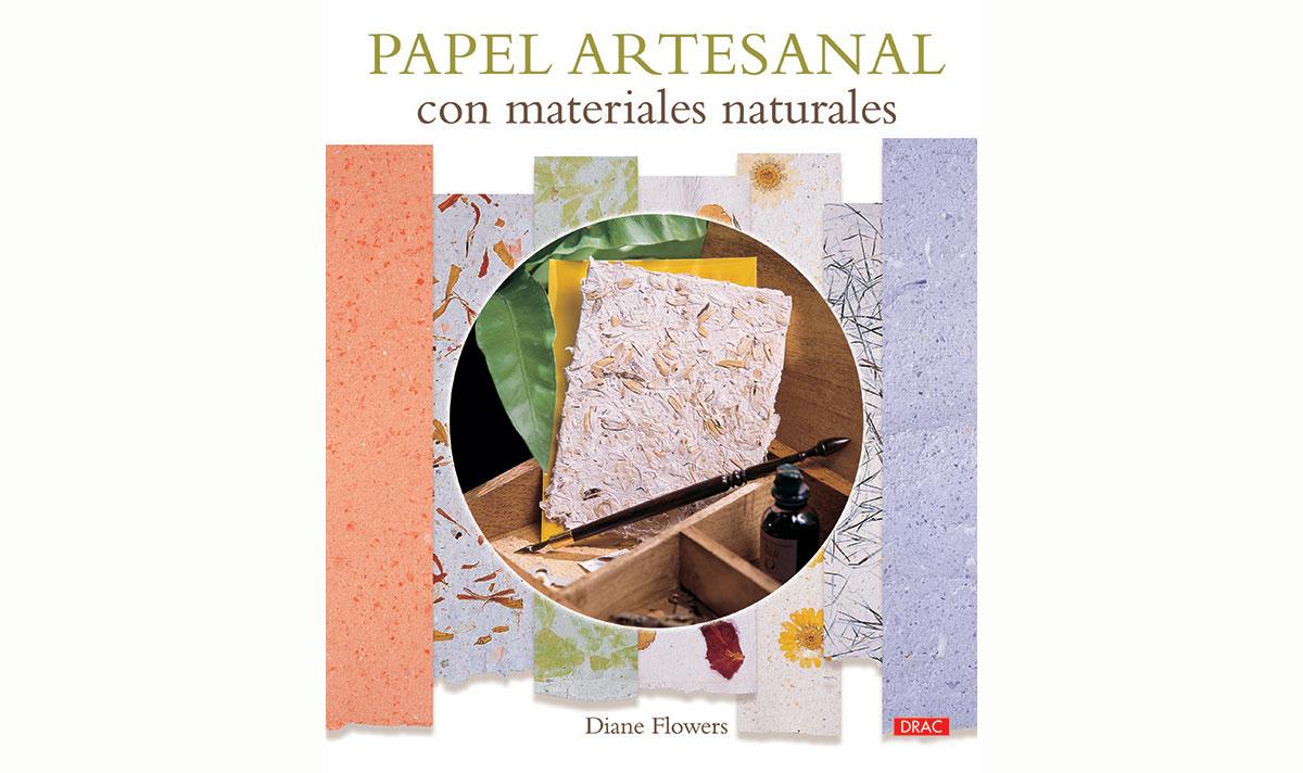 RD3315 Libro MATERIALES NATURALES Papel artesanal con materiales naturales El drac