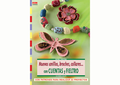 RD34002 Revista CUENTAS Y ABALORIOS FIELTRO Nuevos anillos broches collares con cuentas y fieltro El drac