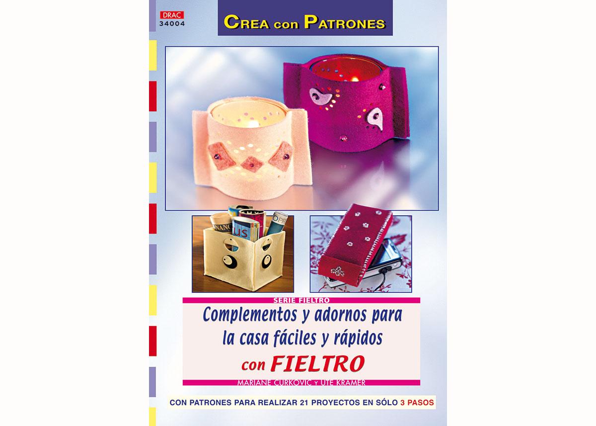 RD34004 Revista FIELTRO Complementos y adornos para la casa faciles y rapidos con fieltro El drac