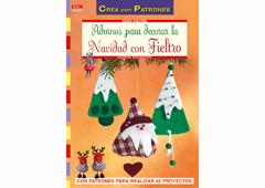 RD34007 Revista FIELTRO NAVIDAD Adornos para decorar la Navidad con fieltro El drac