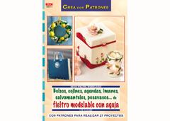 RD36011 Revista FIELTRO Bolsos cojines agendas imanes salvamanteles posavasos de fieltro modelable con aguja El drac