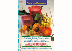 RD36012 Revista FIELTRO Realizar flores frutas setas animales bolas estrellas con fieltro modelable El drac
