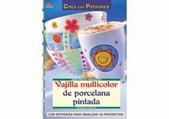 RD38002 Revista PINTURA CRISTAL Y PORCELANA Vajilla multicolor de porcelana pintada El drac