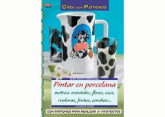 RD38003 Revista PINTURA CRISTAL Y PORCELANA Pintar en porcelana motivos orientales flores osos verdurars frutas conchas El drac