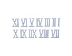RN10S Numeros Romanos de plastico adhesivos plateados 10mm Innspiro