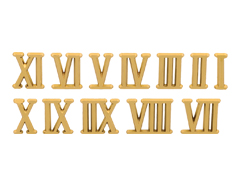 RN15G Numeros Romanos de plastico adhesivos dorados 15mm Innspiro