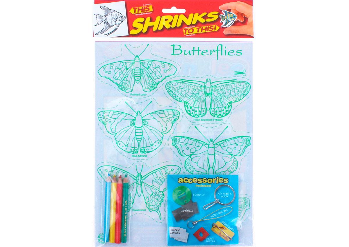 S1060-05 Kit plastico magico Butterflies con 6 disenos y accesorios y accesorios Shrinkles