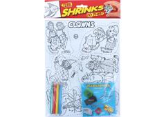 S1060-07 Kit plastico magico Clowns con 6 disenos y accesorios Shrinkles