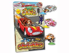 S1060-08 Kit plastico magico Crazy Cars con 6 disenos y accesorios Shrinkles