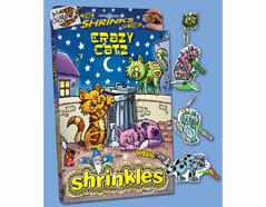 S1060-09 Kit plastico magico Crazy Catz con 6 disenos y accesorios Shrinkles