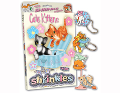 S1060-10 Kit plastico magico Cute Kittens con 6 disenos y accesorios Shrinkles