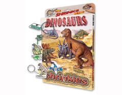 S1060-12 Kit plastico magico Dinosaurs con 6 disenos y accesorios Shrinkles